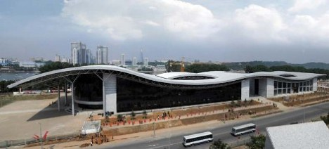 North Korea DPRK Ryugyong Health Complex, Ice Rink, Skate Park, roller skate, inline skate, rollerblade