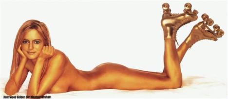 Hollywood Golden Rollergirl Heather Graham Boogie Nights gold roller girl