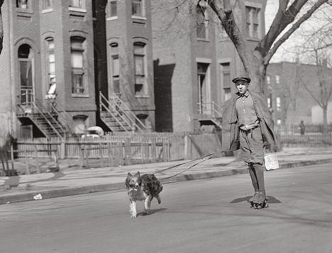 walcott rouse 1922 dog roller skates rollerblades old documentarist