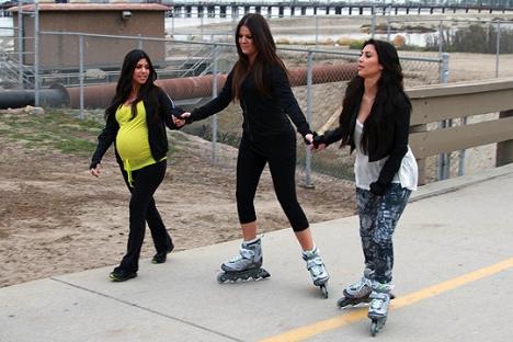 kardashian rollerskate rollerblade inline fitness famous celebrity